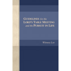 Guidelines for the Lord's...