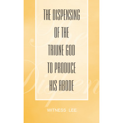 Dispensing of the Triune...