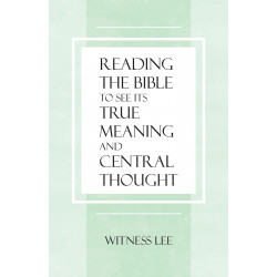 Reading the Bible To See...