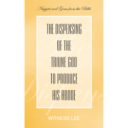 Dispensing of the Triune...