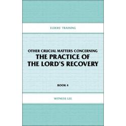 Elders' Training, Book 04:...