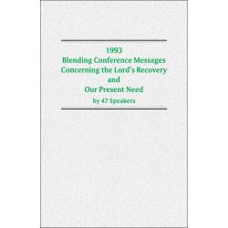 1993 Blending Conference...