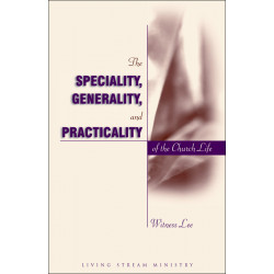Speciality, Generality, and...