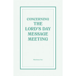 Concerning the Lord's Day...